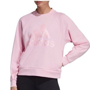Adidas Pink Crew neck pullover new with tags